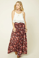 Forever 21 FOREVER 21+ Contemporary Floral Maxi Skirt