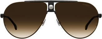 Carrera 63mm Polarized Gradient Oversize Aviator Sunglasses