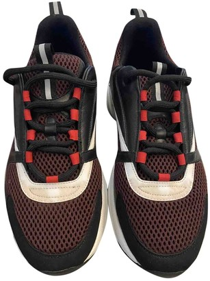 Christian Dior B22 Black Leather Trainers