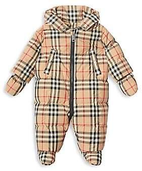 Burberry Women's Baby's Skylar Archival Check Snowsuit