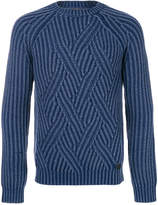 Tod's ribbed cable knit sweater