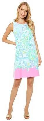 Lilly Pulitzer Jackie Shift Dress (Whisper Blue Beach Happy Engineered Woven) Women's Dress
