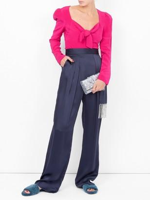 Rebecca De Ravenel Tie Front Blouse Pink