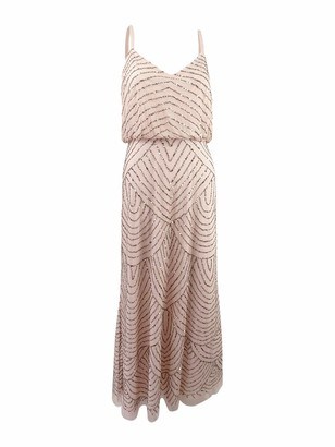 Adrianna Papell Women's Petite Long Blouson Dress