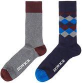 Howick 2 Pack Diamond Socks