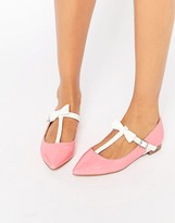 Asos LOGAN Pointed Ballet Flats