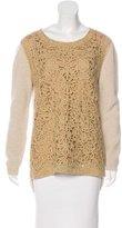 Agnona Wool Appliqué Sweater w/ Tags