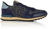 Valentino Men's Rockrunner Denim & Suede Sneakers-BLUE