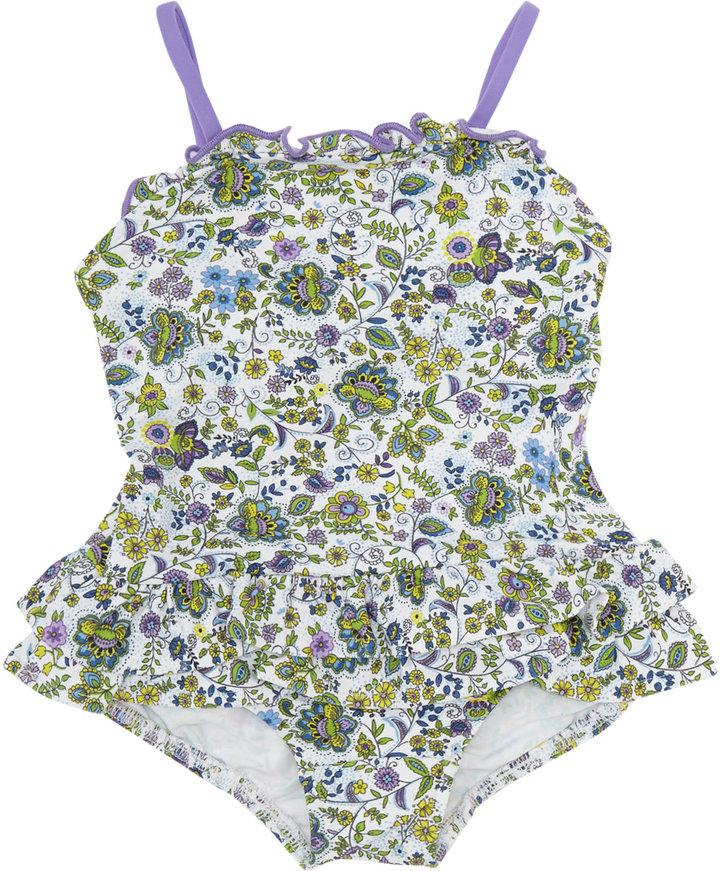 Florence Eiseman Mini-floral One-piece Swimsuit