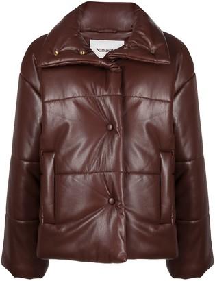 Nanushka Faux-Leather Padded Coat