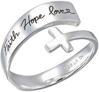 Footnotes Faith Hope Love Sterling Silver Cross