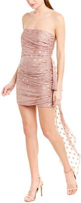 Mason by Michelle Mason Ruched Silk-Blend Sheath Dress