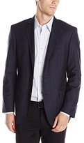DKNY Men's Druce Check 2 Button Slim Fit Sport Coat