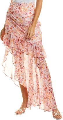 AMUR Emelia Silk Skirt