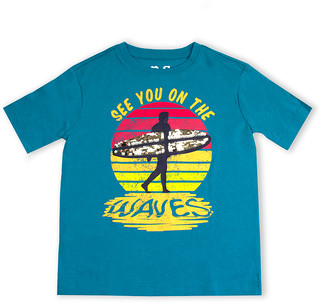 Aeropostale P.S. From p.s. from Boys' Tee Shirts TEAL - Teal 'See You' Reversible Sequins Crewneck Tee - Boys