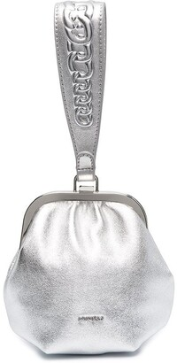 Pinko Metallic Clutch Pouch Bag