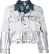 Diesel metallic-coated denim trucker jacket