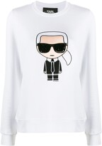 Karl Lagerfeld Paris motif long-sleeve top