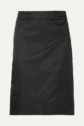 Prada Shell Wrap Skirt - Black