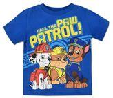 "Nickelodeon NickelodeonTM Paw PatrolTM ""Call the Paw Patrol"" Short Sleeve T-Shirt in Blue"