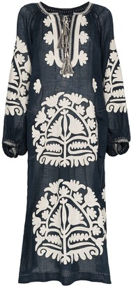 Vita Kin Shalimar embroidered midi dress
