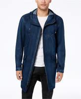 Sean John Men's Full-Zip Hooded Denim Coat