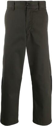 Marni contrast inserts workwear gabardine trousers