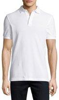 Fred Perry Tonal Textured Piqué Polo Shirt, White