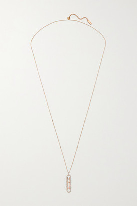 Messika Move 10th 18-karat Rose Gold Diamond Necklace - one size
