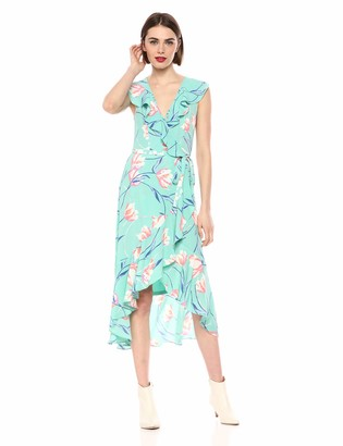 Donna Morgan Women's Ruffle WRAP Dress