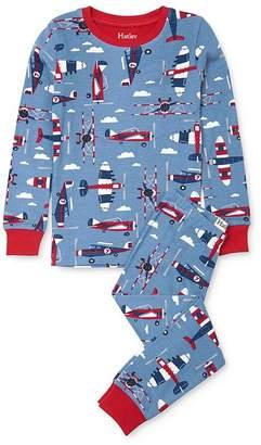 Hatley Boys' Airplane Tee & Airplane Pants Pajama Set - Little Kid, Big Kid