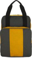 Comme des Garcons Grey Embossed Two-Tone Shoulder Bag
