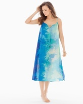 Soma Intimates Floral Stream Cotton Nightgown Blue Multi