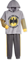 Nannette 2-Pc. Layered-Look Batman Hoodie & Pants Set, Little Boys (2-7)