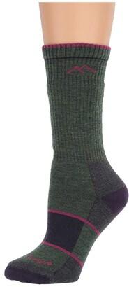 Darn Tough Vermont Merino Wool Boot Socks Full Cushion (Moss Heather) Women's Crew Cut Socks Shoes