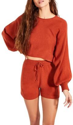 Steve Madden Lounge Shorts Set Red Orange