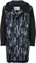 Cerruti camouflage hood coat
