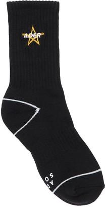 Ader Error Embroidery Logo Star Cotton Socks