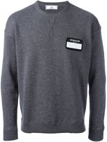 Ami Alexandre Mattiussi name tag patch jumper - men - Cashmere/Merino - S