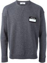Ami Alexandre Mattiussi name tag patch jumper