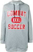 MSGM slogan hooded sweatshirt