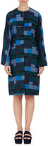 Zero Maria Cornejo WOMEN'S JACQUARD COLLARLESS RAISA COAT-BLUE SIZE 6