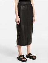 Calvin Klein Platinum Leather Skirt