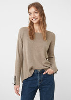 MANGO Interwoven Drawstring Sweater