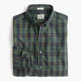 J.Crew Slim Secret Wash shirt in green plaid