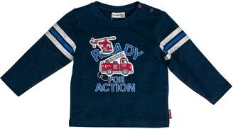Salt&Pepper Salt and Pepper Baby Boys' Ready for Action Feuerwehr Stick Longsleeve T-Shirt