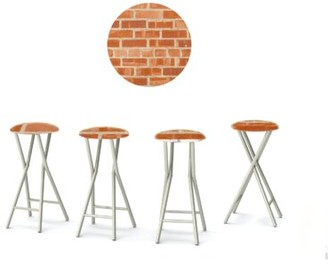 Best Of Times Boston Brick 30'' Patio Bar Stool with Cushion Best of Times