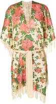 Mes Demoiselles wrapped floral cardigan