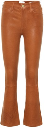 Frame Le Crop Mini Boot leather jeans