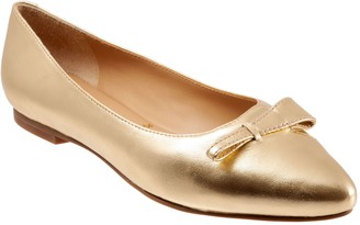 Trotters Slip On Leather Pointed Flats - Erica
